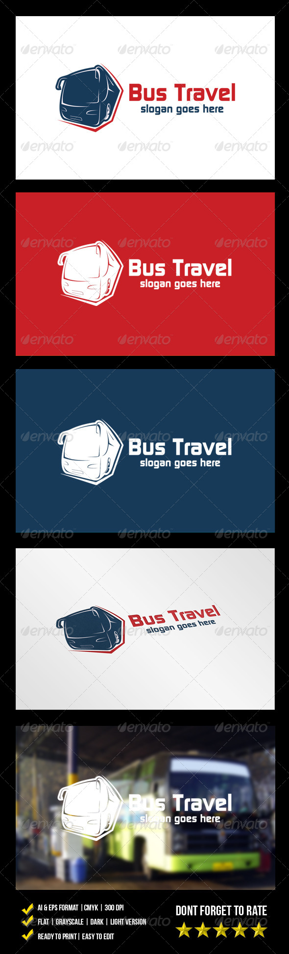 Bus Travel Logo - Objects Logo Templates