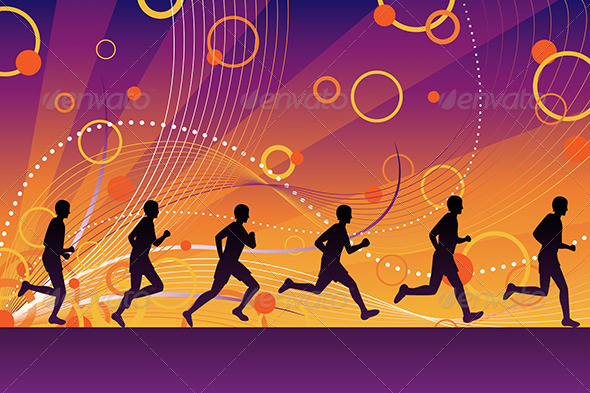 Silhouette Runners - Sports/Activity Conceptual
