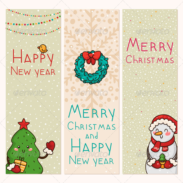Christmas and New Years Vertical Banners - Christmas Seasons/Holidays