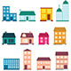 Flat Style House Icons - GraphicRiver Item for Sale