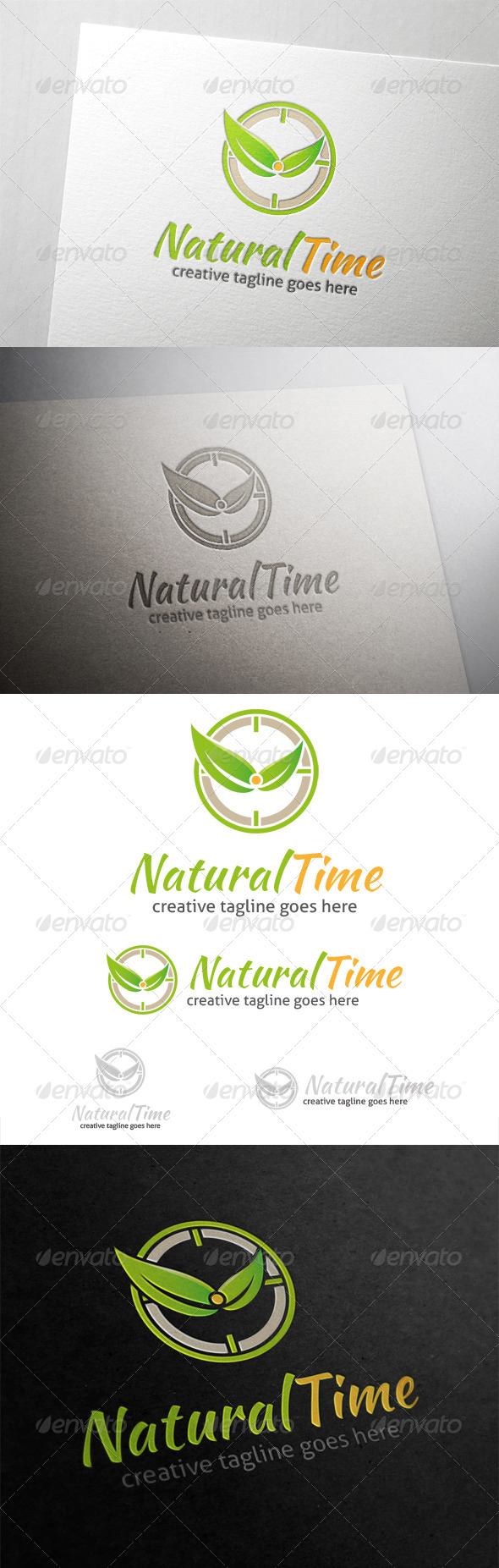 Natural Time Logo - Nature Logo Templates
