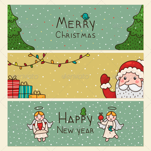 Christmas and New Years Horizontal Banners - Christmas Seasons/Holidays