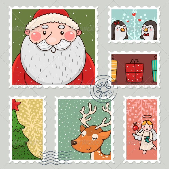 Christmas Stamp - Christmas Seasons/Holidays