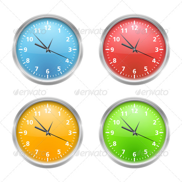 Clock - Objects Vectors