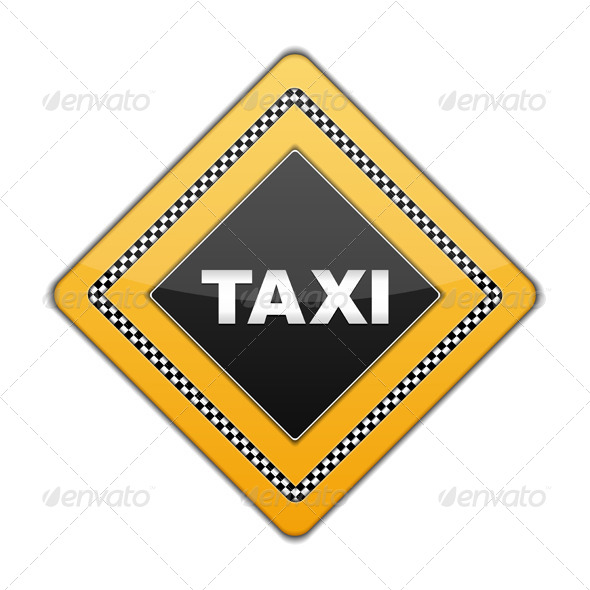 Taxi Sign - Objects Vectors