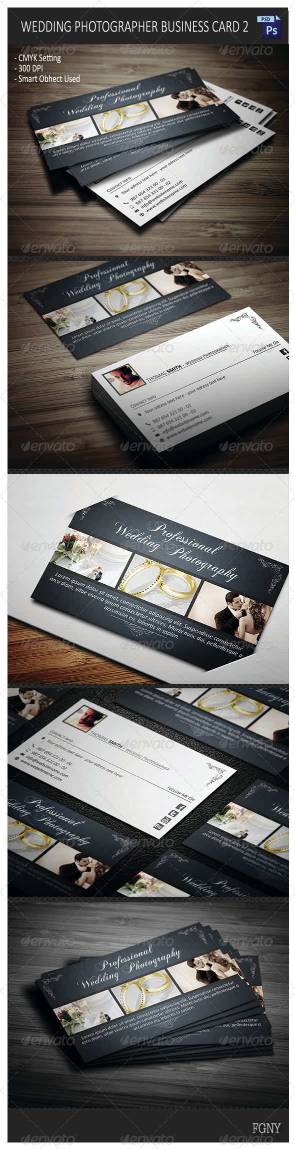 Wedding photographer business card 2 by yfguney graphicriver wedding photographer business card 2 corporate business cards reheart Choice Image