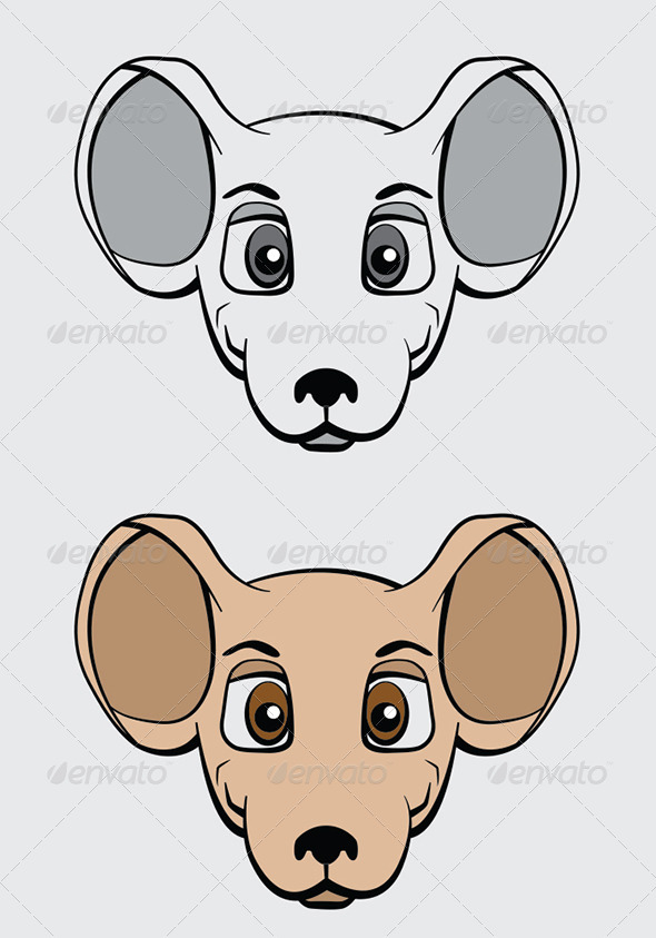 Cartoon Mouse Character Vector Illustration - Animals Characters