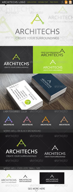 Architechs Letter A Logo Template - Symbols Logo Templates