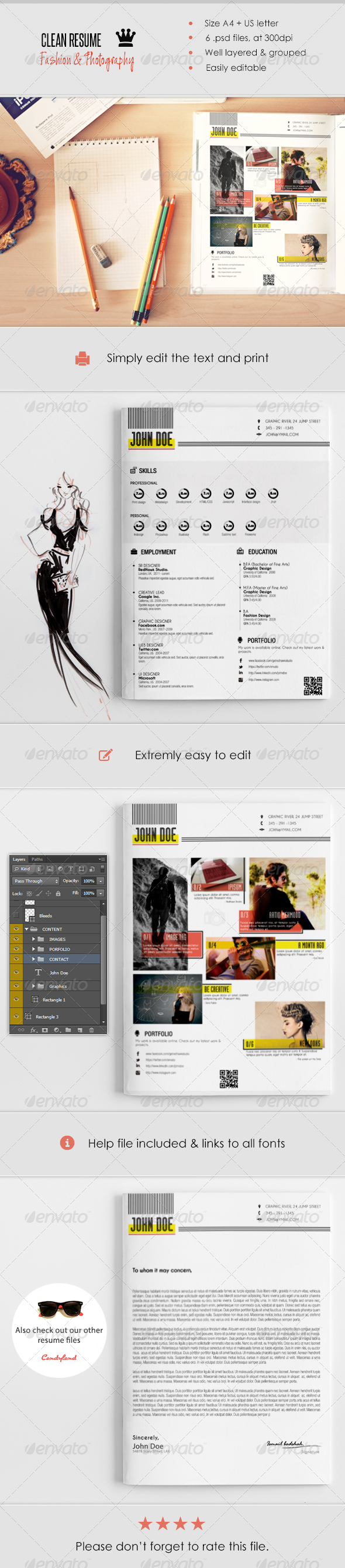 Fashion and Photography - Resumes Stationery