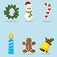 Lovely Christmas Icons  - GraphicRiver Item for Sale