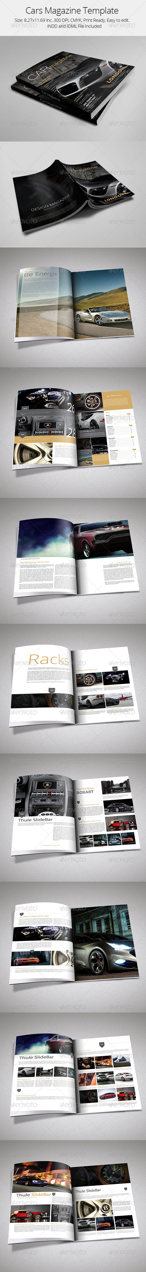 Cars Magazine Template - Magazines Print Templates