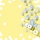 Bees and Honeycomb. Spring Background. - GraphicRiver Item for Sale