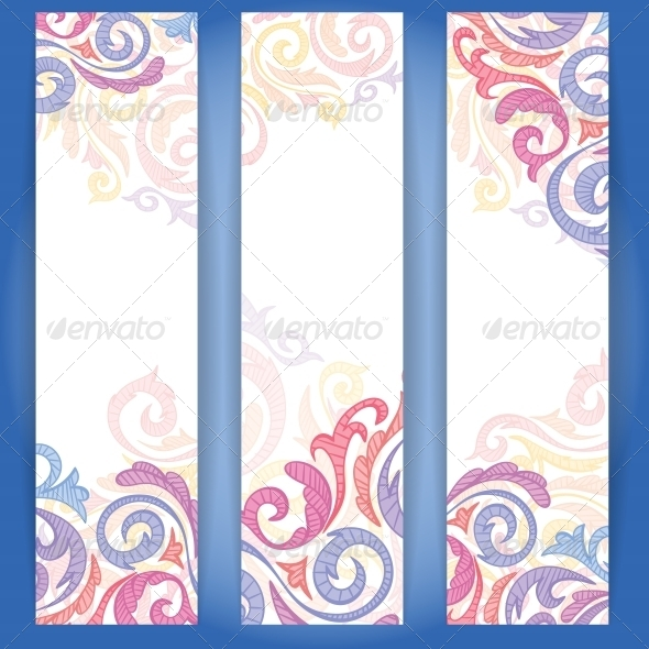 Set of Colorful Banners. - Flowers & Plants Nature