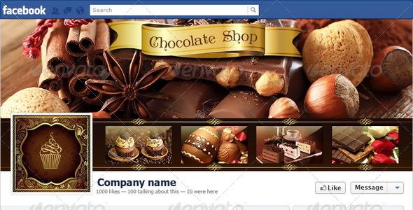 Chocolate Shop Facebook Timeline - Facebook Timeline Covers Social Media