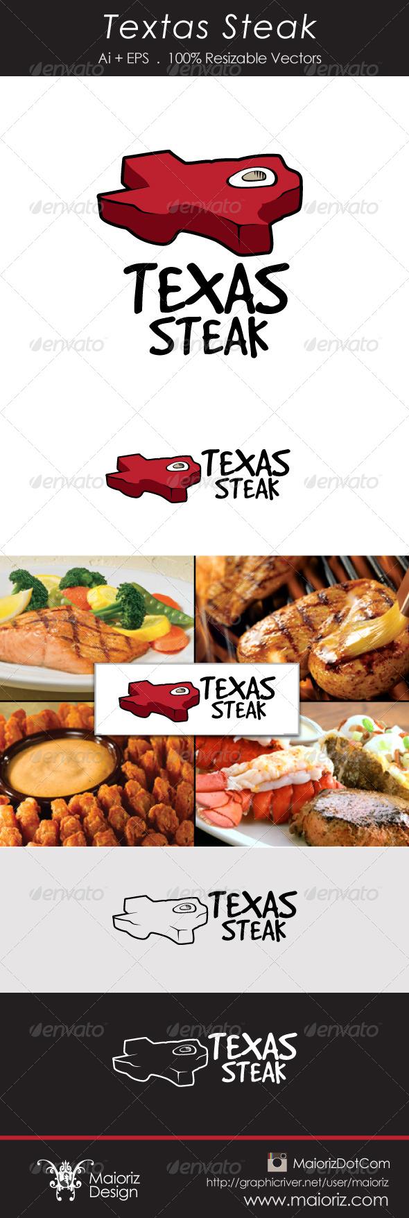 Texas Steak Logotype - Food Logo Templates