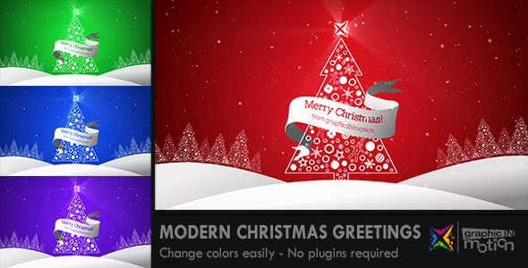 Modern christmas greetings by graphicinmotion videohive play preview video m4hsunfo
