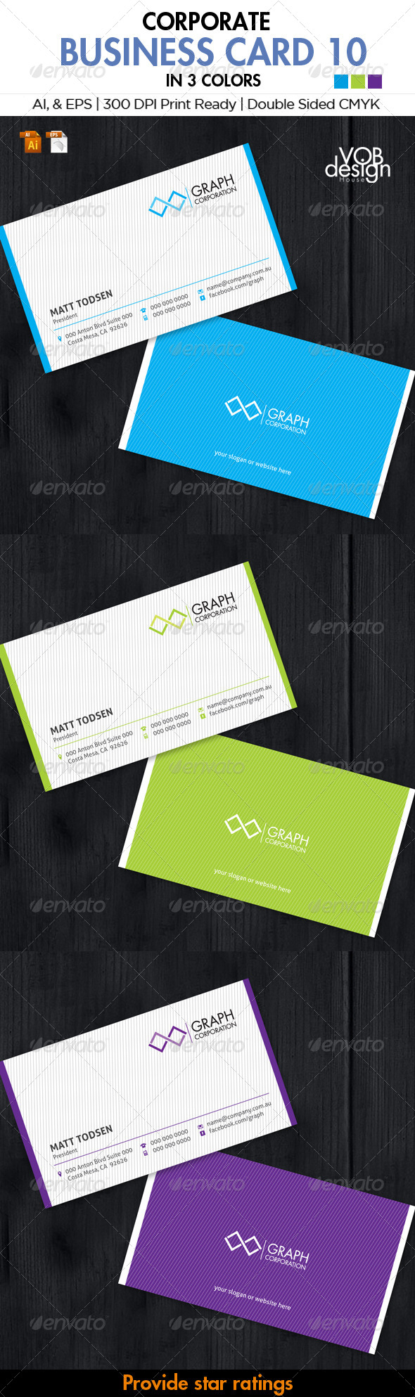 Corporate Business Card 10 - Business Cards Print Templates