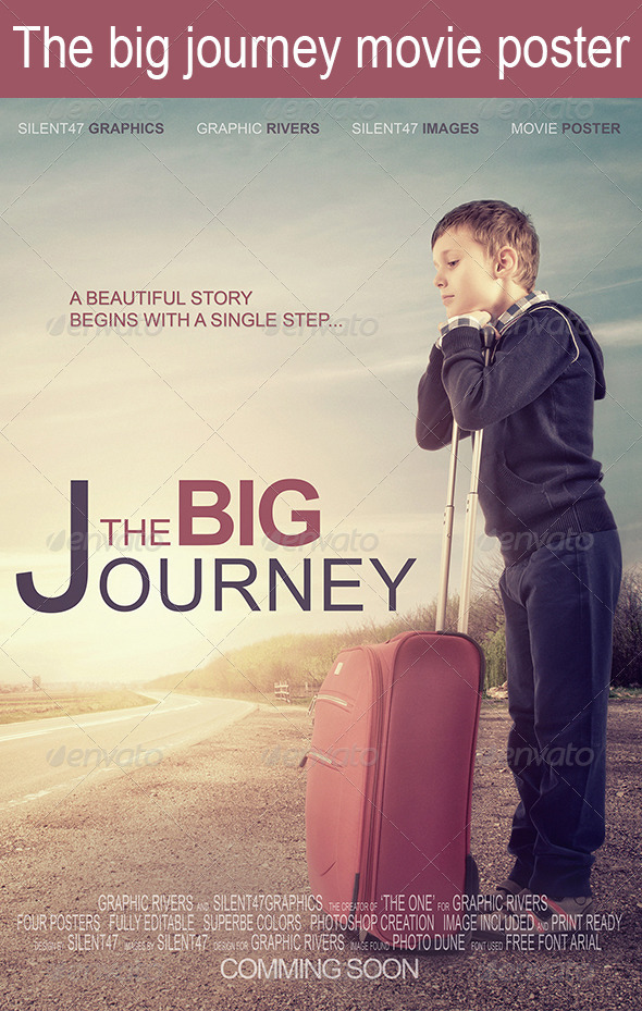 The Big Journey Movie Poster - Miscellaneous Print Templates