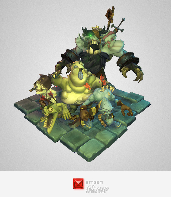 Low Poly Zombie Crew - 3DOcean Item for Sale