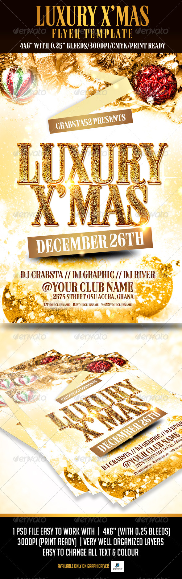 Luxury X'mas Flyer Template - Events Flyers