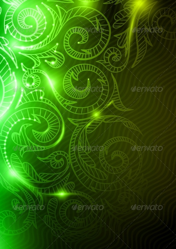 Neon Pattern Background - Patterns Decorative