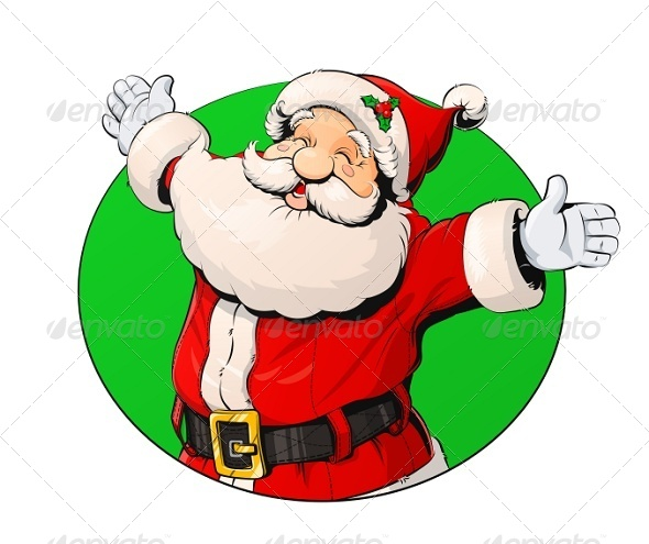 Smiling Santa Claus - Christmas Seasons/Holidays