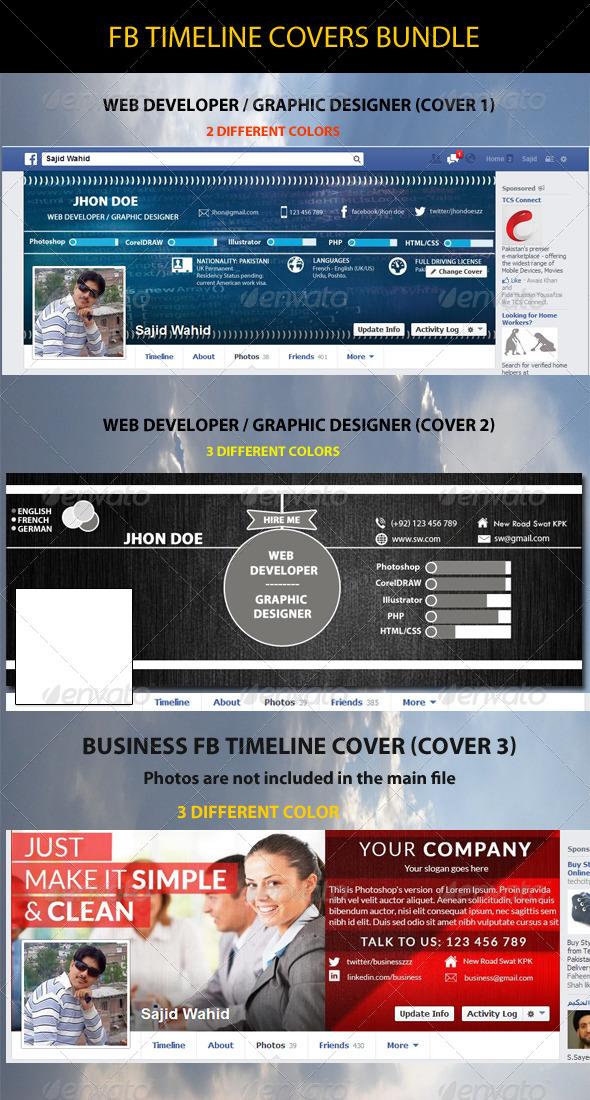 FB Timeline Covers Bundle - Facebook Timeline Covers Social Media