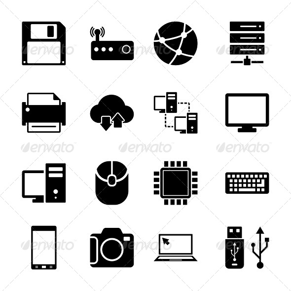 Technology Icons Set - Technology Icons