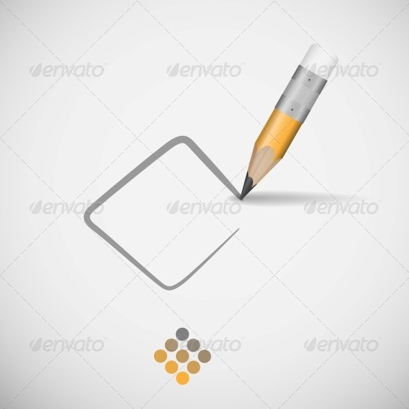 Pencil Drawing Line. - Backgrounds Business