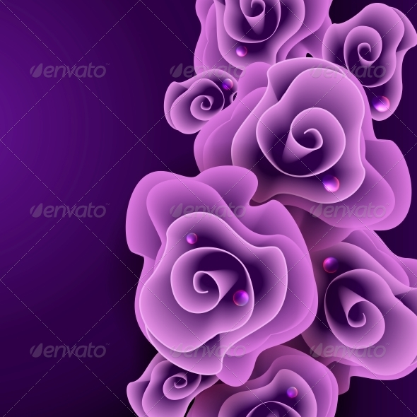 Purple Rose Background. - Weddings Seasons/Holidays