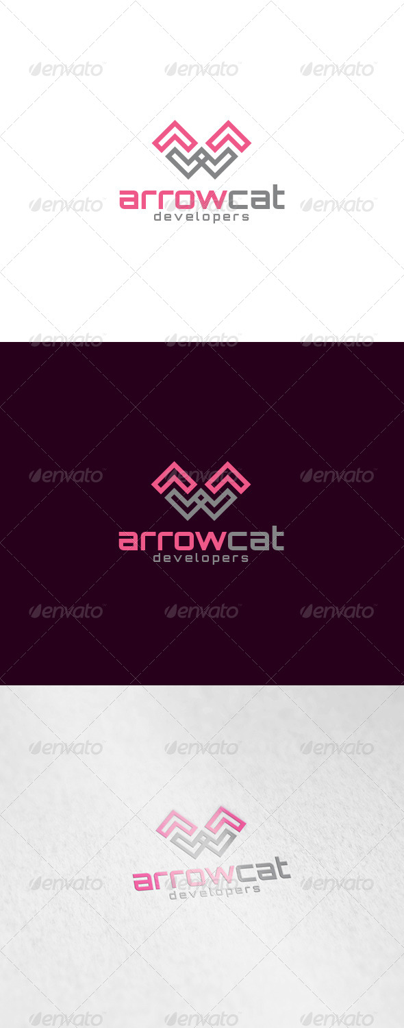 Arrow Cat Logo - Animals Logo Templates