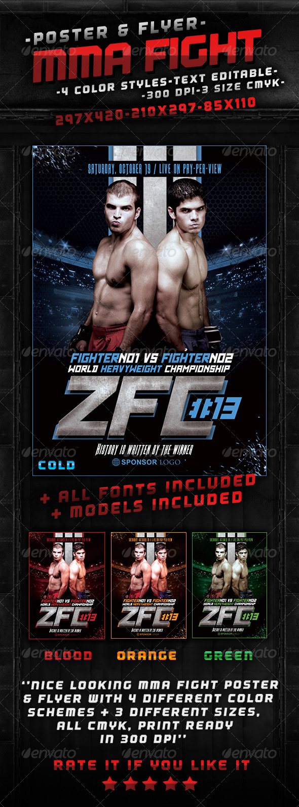 MMA Fight Poster - Sports Events
