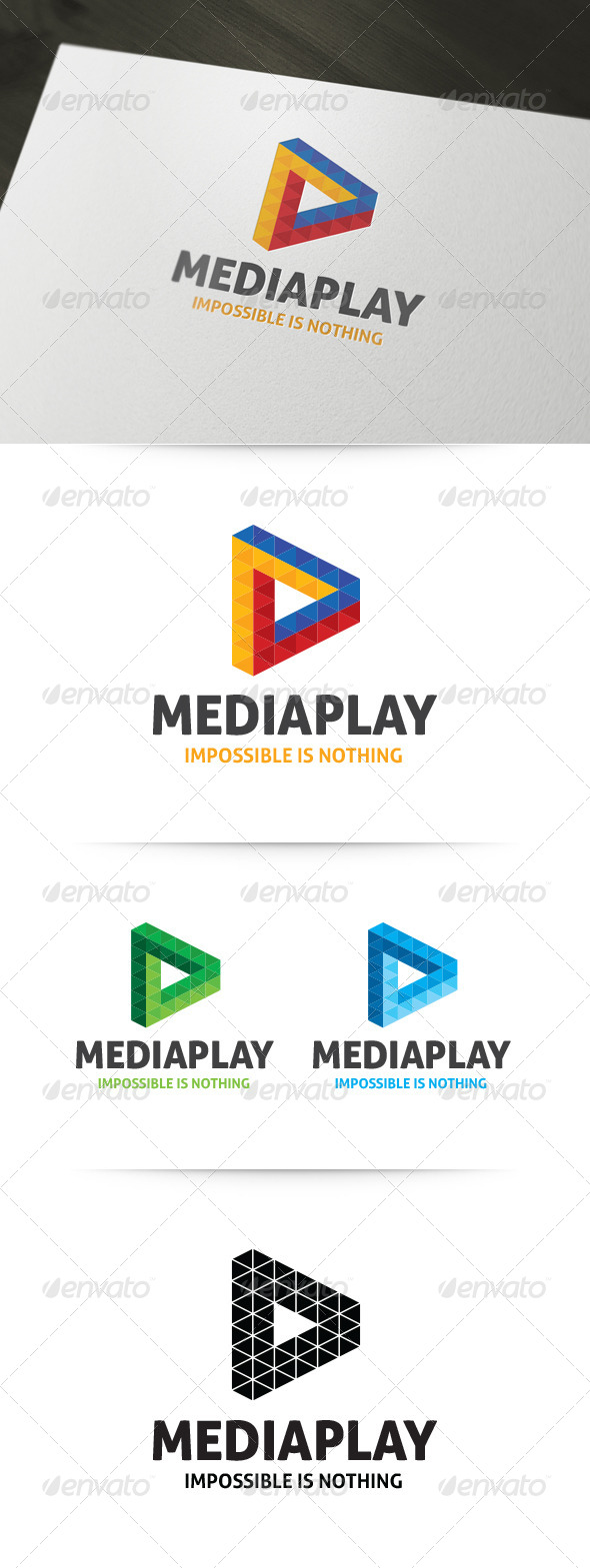 Impossible Triangle Logo - Symbols Logo Templates