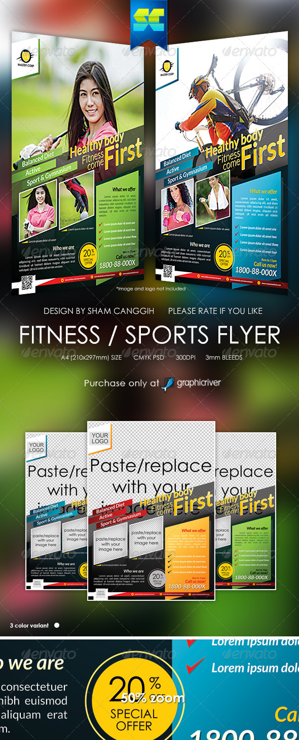 Modern Fitness & Sport Flyer / Magazine Ads by shamcanggih ...