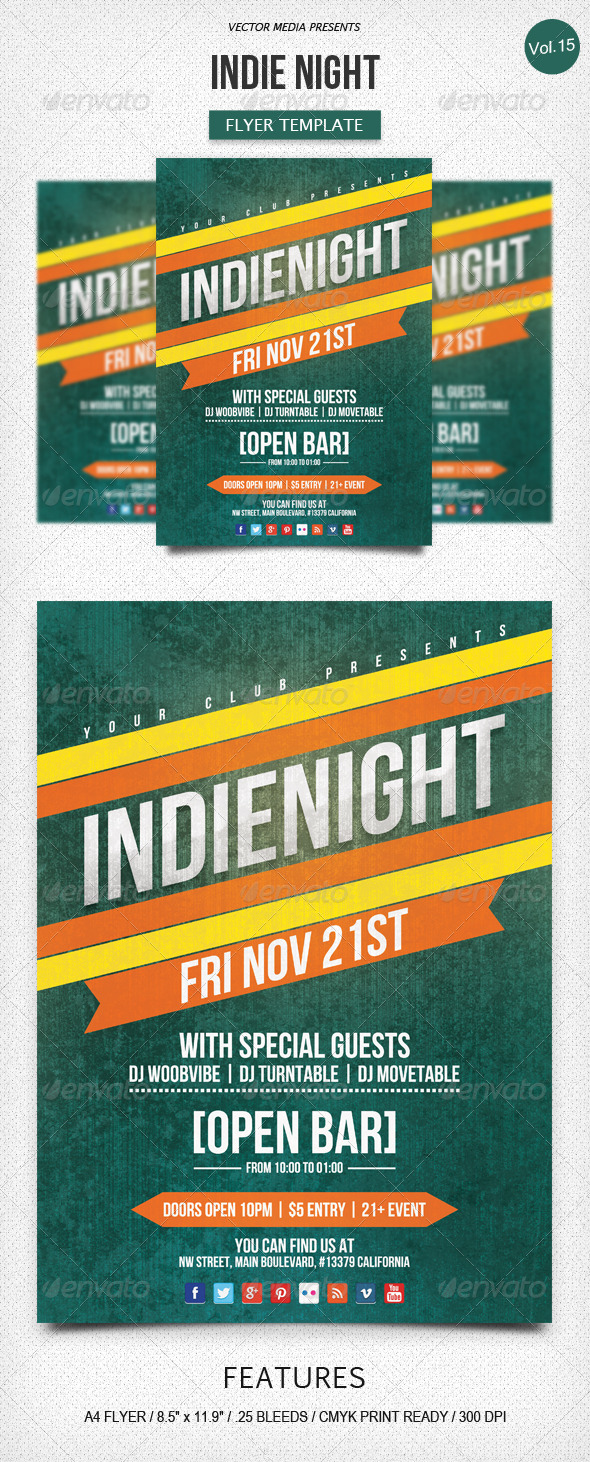 Indie Night - Flyer [Vol.15] - Clubs & Parties Events