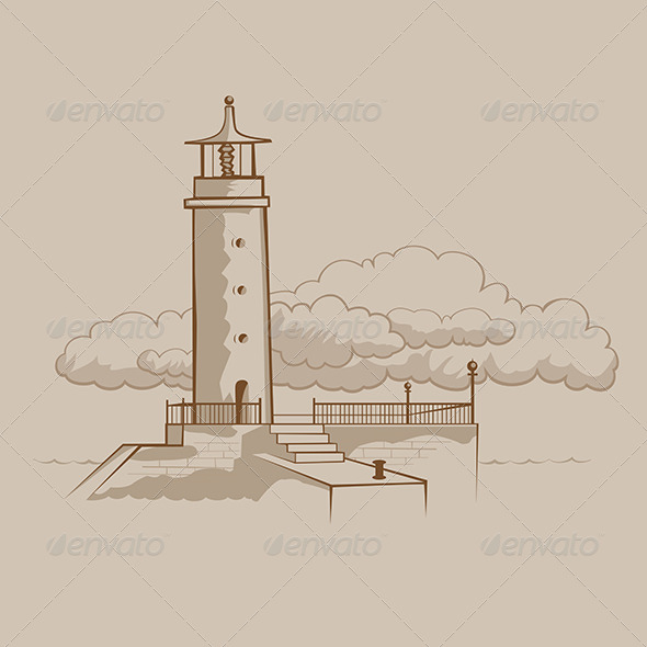 Classic Lighthouse Building - Buildings Objects