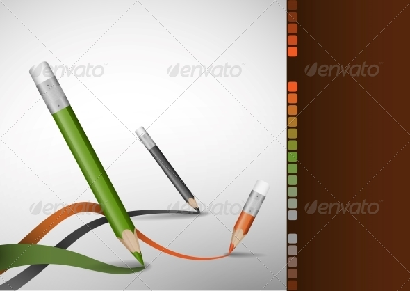 Colour Pencils Drawing Lines. - Backgrounds Business
