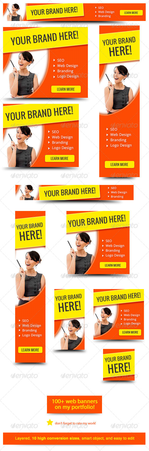 Design for banner ads - Your Brand Here Web Banner Banners Ads Web Elements