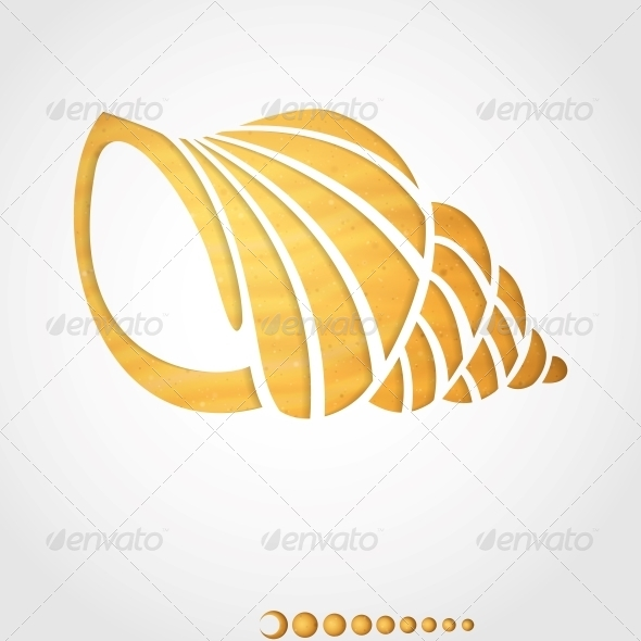 Summer Background. Seashell. - Decorative Symbols Decorative
