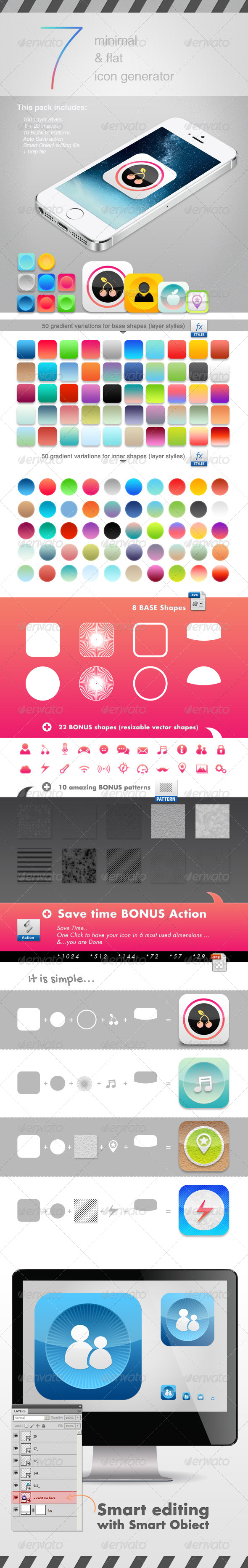Minimal & Flat Modern Icon Generator - Icons