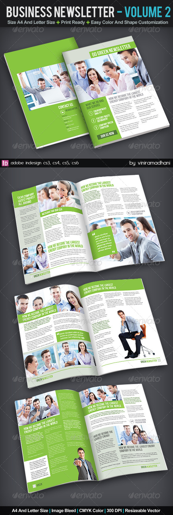 Business Newsletter | Volume 2 - Newsletters Print Templates