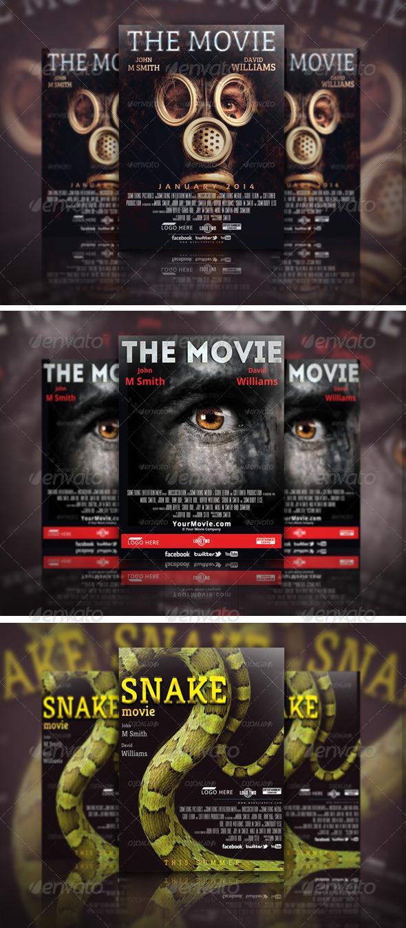 Movie Poster Template Bundle 02 - Miscellaneous Print Templates