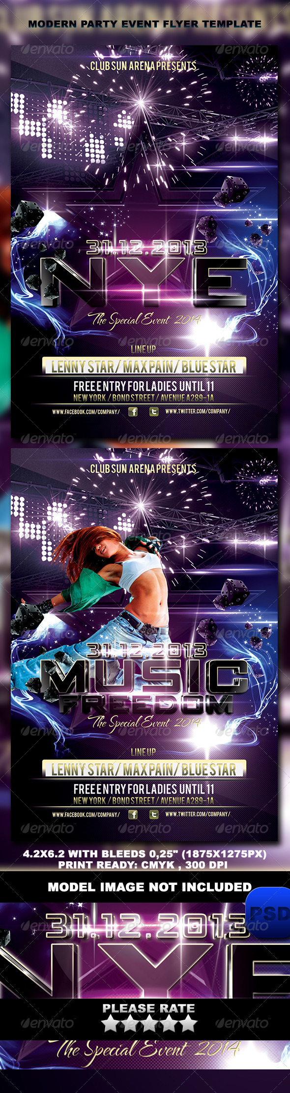 Modern Party Event Flyer Template - Events Flyers