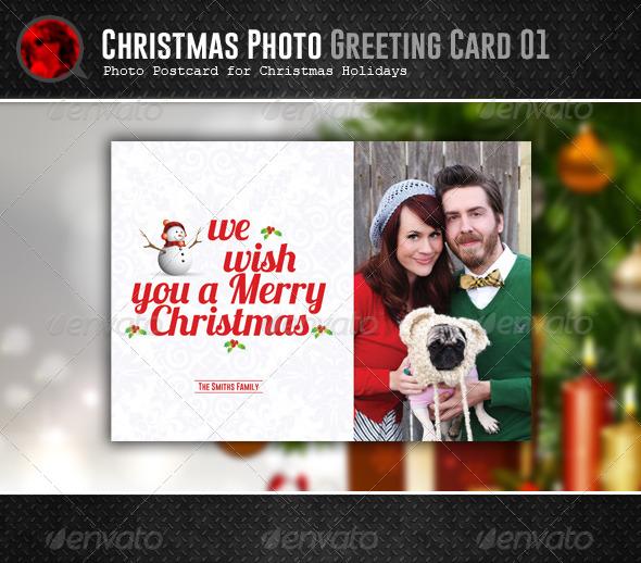 Christmas Postcard 01 - Holiday Greeting Cards
