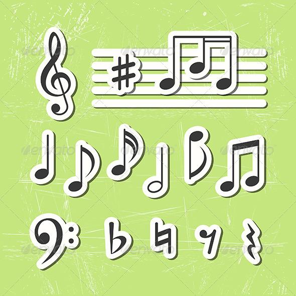 Music Notes - Conceptual Vectors