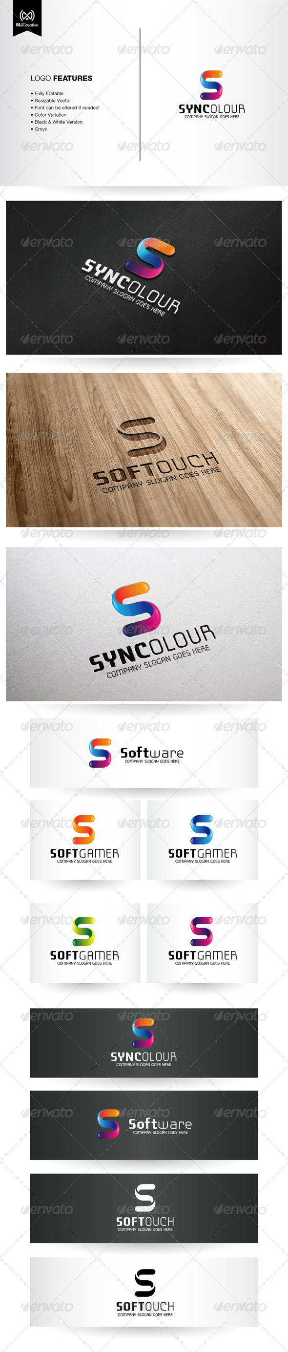 Colorful Letter S Logo - Letters Logo Templates