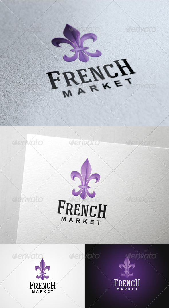 French Market - Symbols Logo Templates