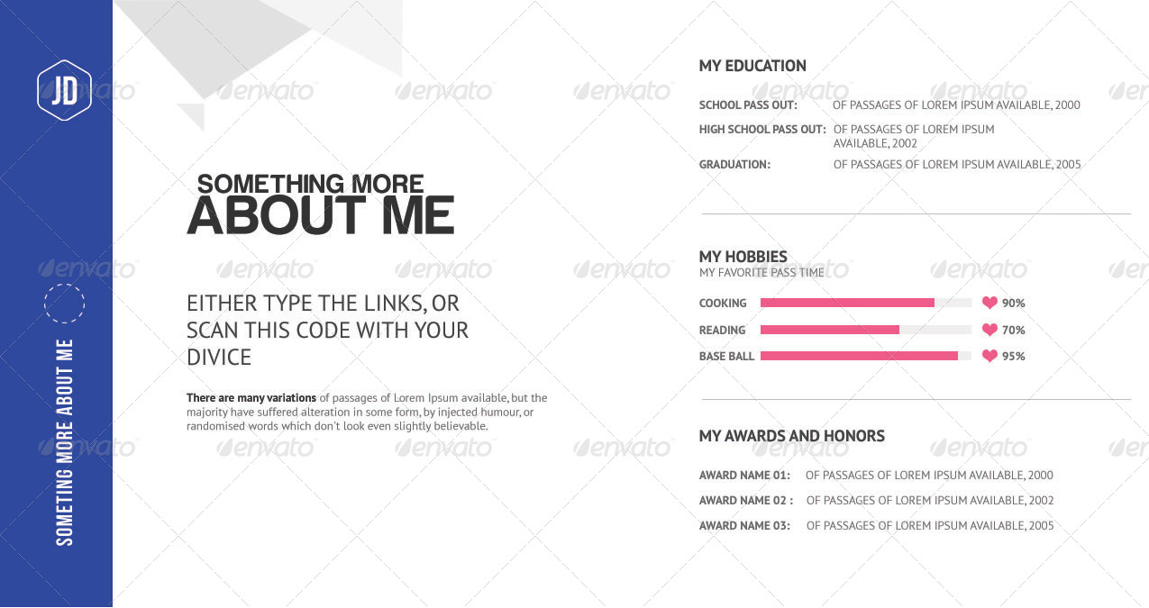 the ultimate creative pocket resume by jblinteractive graphicriver