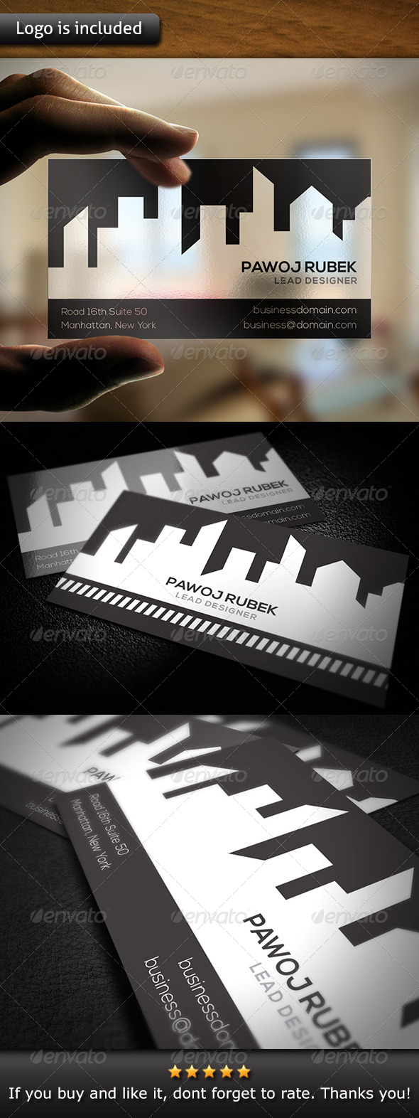 City Business Card - Grunge Business Cards