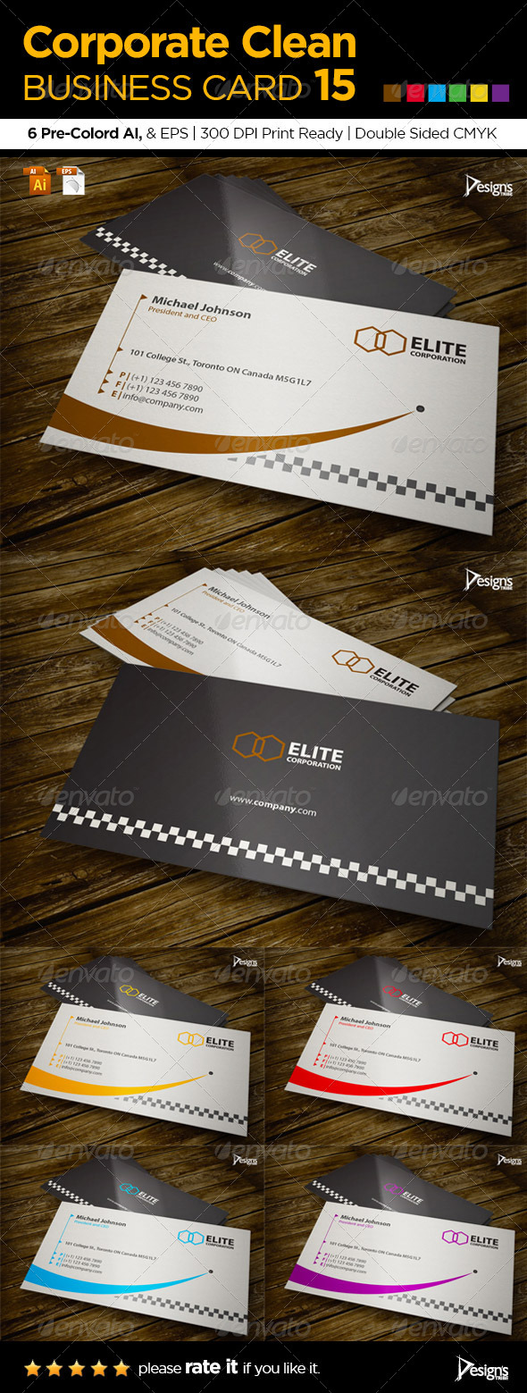 Corporate Clean Business Card 15 - Corporate Business Cards